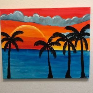 Sunset Canvas painting by Me!